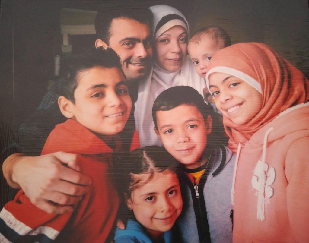 Alaa Al Rajeh with her family