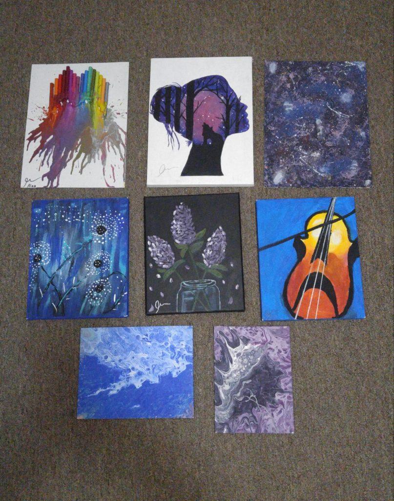 Alaa Al Rajeh's many paintings