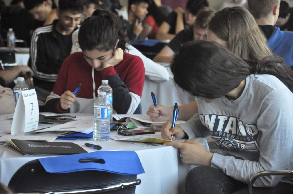 Students during workshop at Foundations of Finance event